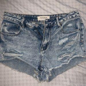 pacsun blue jean shorts